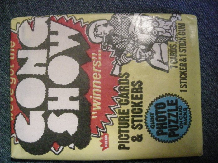 THE GONG SHOW TRADING CARDS 1977 chuck barris SEALED PACK!