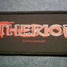 THERION sew-on PATCH red logo IMPORT