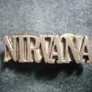 NIRVANA METAL PIN logo kurt cobain badge VINTAGE