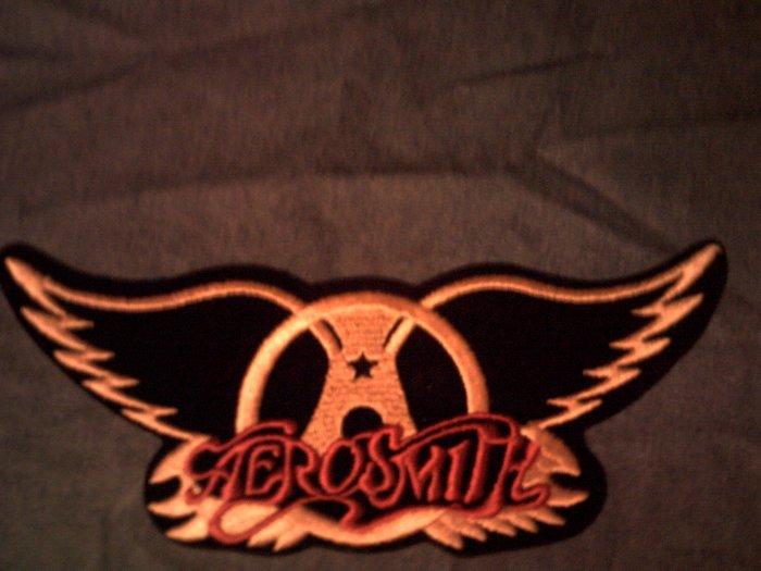AEROSMITH iron-on PATCH gold wings logo VINTAGE JUMBO