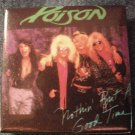 POISON PINBACK BUTTON Nothin But a Good Time band pic square VINTAGE