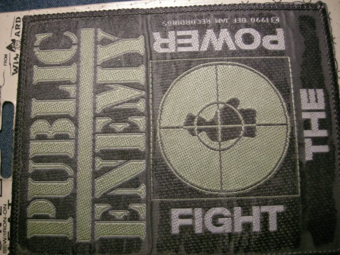 PUBLIC ENEMY sew-on PATCH Fight the Power rap moc VINTAGE