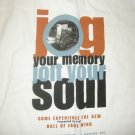 ROCK AND ROLL HALL OF FAME SHIRT jog your memory jolt your soul XL NEW!