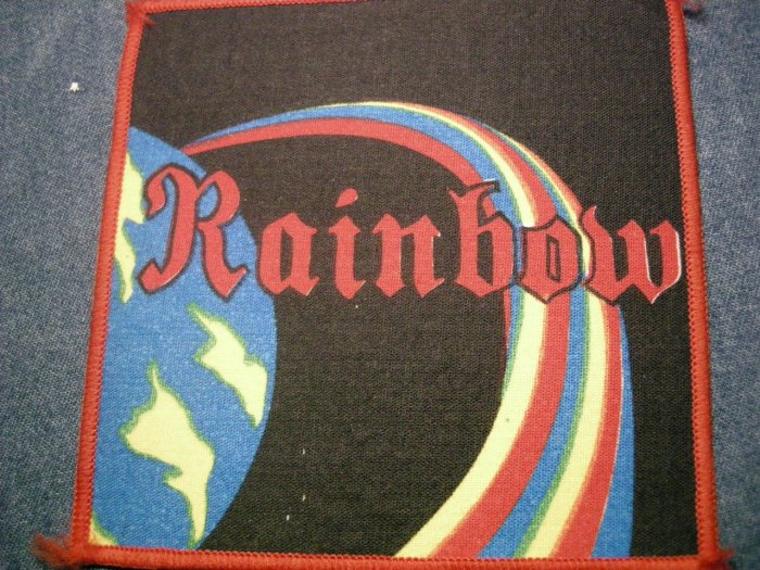 RAINBOW sew-on PATCH multi-color ritchie blackmore VINTAGE JUMBO!