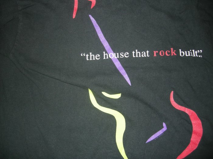 ROCK AND ROLL HALL OF FAME SHIRT Inductees House That Rock Built XL