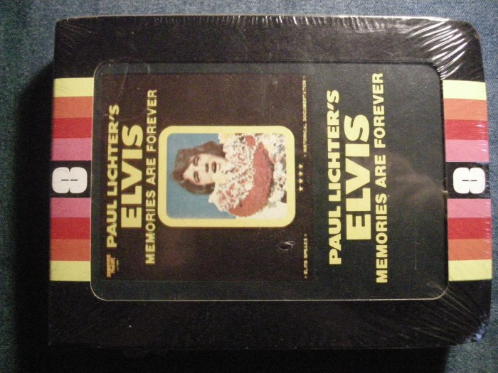 ELVIS PRESLEY 8-TRACK TAPE Paul Lichter's Memories Are Forever vintage SEALED