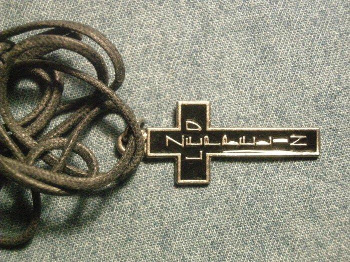 LED ZEPPELIN METAL NECKLACE cross logo vintage IMPORT