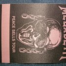 MEGADETH BACKSTAGE PASS Peace Sells Tour bsp VINTAGE