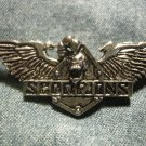 SCORPIONS METAL PIN skull wings logo badge VINTAGE