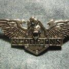 SCORPIONS METAL PIN skull wings logo badge VINTAGE