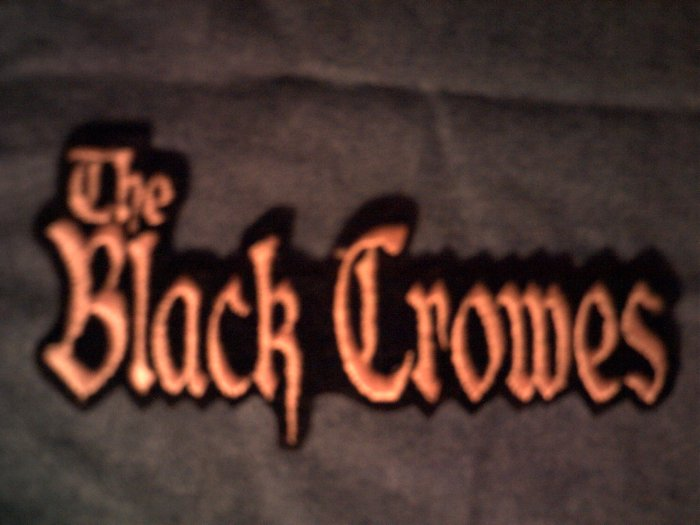 THE BLACK CROWES iron-on PATCH long logo VINTAGE