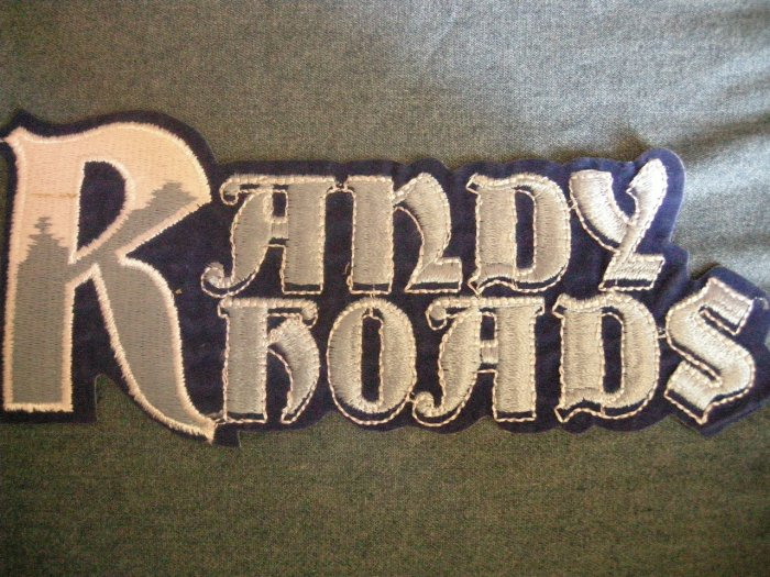 RANDY RHOADS iron-on PATCH logo ozzy osbourne VINTAGE JUMBO