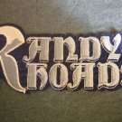 RANDY RHOADS iron-on PATCH logo ozzy osbourne VINTAGE JUMBO