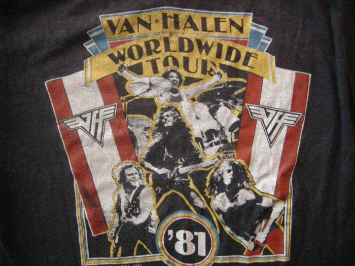 VAN HALEN SHIRT 1981 World Tour david lee roth M VINTAGE