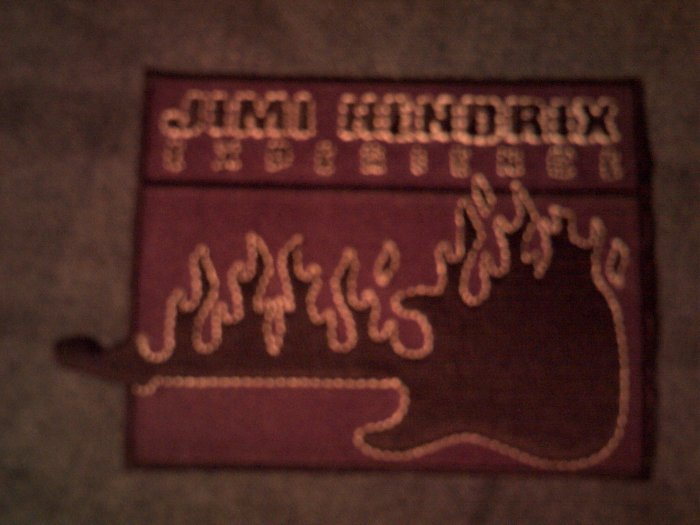 JIMI HENDRIX iron-on PATCH purple guitar NEW!
