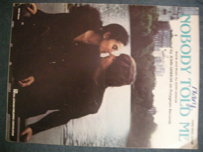 JOHN LENNON SHEET MUSIC Nobody Told Me beatles yoko ono p/v/g VINTAGE