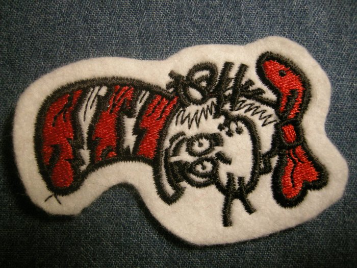 CAT IN THE HAT iron-on PATCH dr suess NEW
