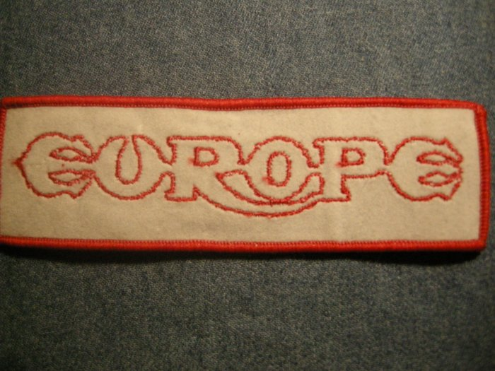 EUROPE iron-on PATCH red/grey logo VINTAGE 80s
