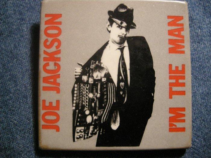 JOE JACKSON PINBACK BUTTON I'm the Man square VINTAGE JUMBO