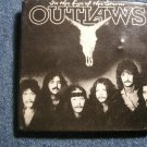 THE OUTLAWS PINBACK BUTTON In Eye of Storm square VINTAGE JUMBO SALE