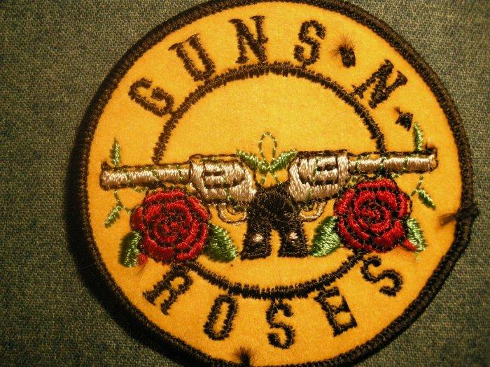 GUNS N ROSES iron-on PATCH round pistols logo gnr VINTAGE 80s