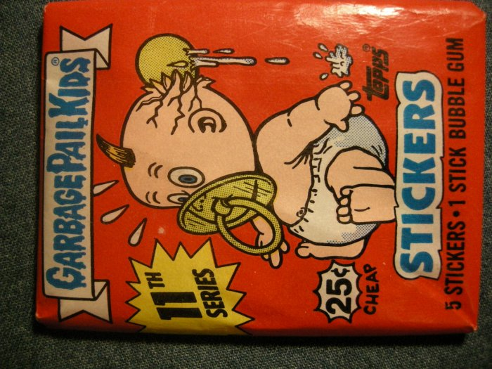 GPK SERIES 11 STICKERS 1987 garbage pail kids bubble gum SEALED PACK