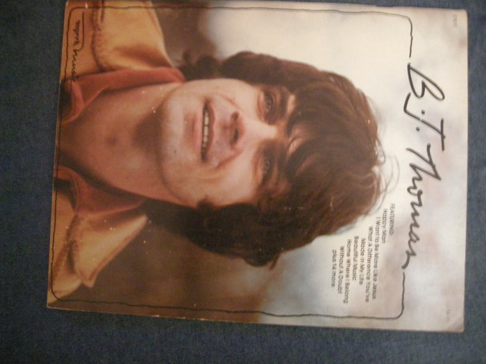B.J.THOMAS SONGBOOK country christian song book VINTAGE