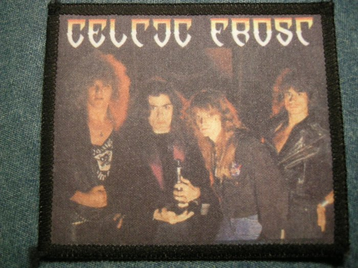 CELTIC FROST sew-on PATCH color band photo IMPORT