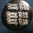 CHEAP TRICK PINBACK BUTTON multi-logo VINTAGE