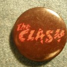 THE CLASH PINBACK BUTTON red logo punk VINTAGE