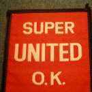 SUPER UNITED OK sew-on PATCH punk import VINTAGE