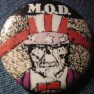 M.O.D. PINBACK BUTTON Usa For Mod sod VINTAGE