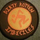 D.R.I. sew-on PATCH round dirty rotten imbeciles dri punk VINTAGE