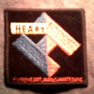HEART iron-on PATCH Brigade logo ann nancy wilson VINTAGE