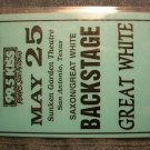 GREAT WHITE BACKSTAGE PASS Saxon 1996 99.5 kiss texas laminate bsp