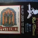PESTILENCE ROC-TATTOOS skeletons logo VINTAGE