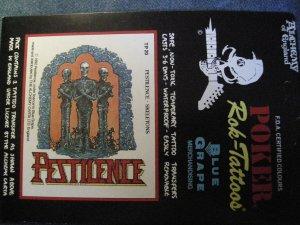 PESTILENCE ROC-TATTOOS skeletons logo VINTAGE