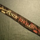 RANDY RHOADS HEADBAND 1956-1982 guitars logo ozzy osbourne head band VINTAGE