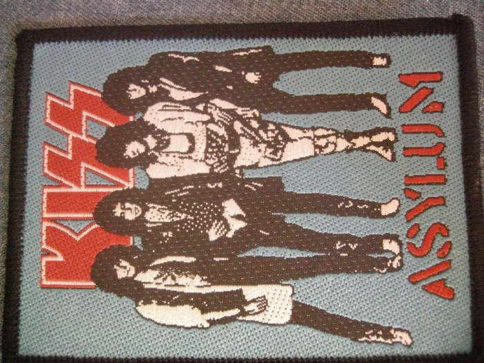 KISS sew-on PATCH Asylum group pic VINTAGE