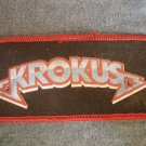 KROKUS sew-on PATCH blue/red logo VINTAGE