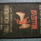 LED ZEPPELIN sew-on PATCH Knebworth Concert swan song logo VINTAGE