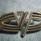 VAN HALEN METAL PIN oval =vh= logo badge VINTAGE