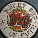 MUCKY PUP sew-on PATCH Act of Faith round punk IMPORT