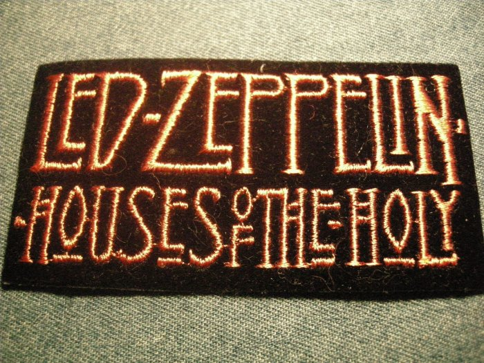 LED ZEPPELIN iron-on PATCH Houses of the Holy logo VINTAGE