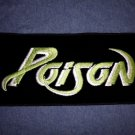 POISON iron-on PATCH green logo VINTAGE JUMBO
