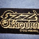 OZZY OSBOURNE iron-on PATCH gold logo VINTAGE