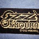 OZZY OSBOURNE iron-on PATCH gold logo VINTAGE