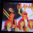 DEF LEPPARD sew-on PATCH eye color band photo VINTAGE