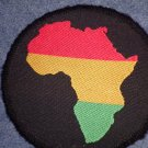 AFRICA sew-on PATCH red yellow green IMPORT