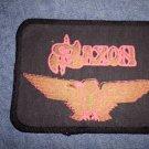 SAXON sew-on PATCH orange eagle logo VINTAGE